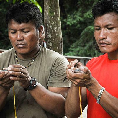 Formation guidage en milieu amazonien © Claudia Berthier PAG