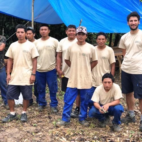 L'équipe du chantier, insertion bois à Trois Sauts