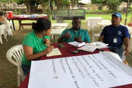 Members of Group 2 on Community Involvement in Protected Areas Management during the Breakout sessions © Claudia Berthier PAG