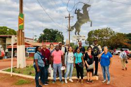 Arrival of the Surinamese and French Guianese delegations in Lethem.  © Claudia Berthier PAG