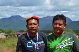 Aïmawale Opoya (French Guiana) and Guy Fredericks (Guyana) © PAG