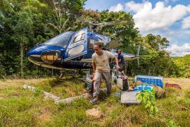 Cédric Benoit, moniteur forestier au PAG et logisticien lors de cette mission © Aurélien BRUSINI