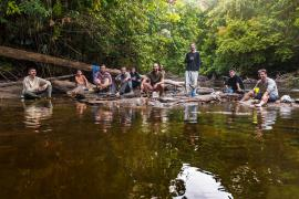 L'équipe de la mission Haut-Koursibo © A. Brusini