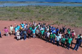 Group photo near Nappi Village Dam © Protected Areas Commission