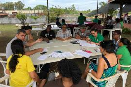 Members of Group 1 on Community Involvement in Protected Areas Management during the Breakout sessions © Claudia Berthier PAG