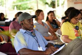 11. Members of the Surinamese and French Guyanese teams during the panel discussion © Claudia Berthier PAG