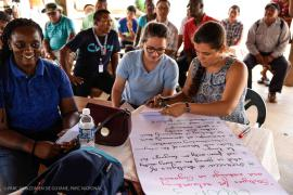 Participants of a working session in Nappi  © Claudia Berthier PAG