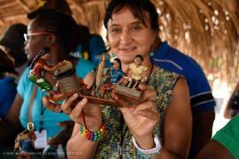 Balata crafts made by the craftsman of Nappi © Claudia Berthier PAG