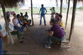 Breakout session in Nappi on strategies for networking and exchange in the Guianas on Language preservation © Arnaud Anselin PAG